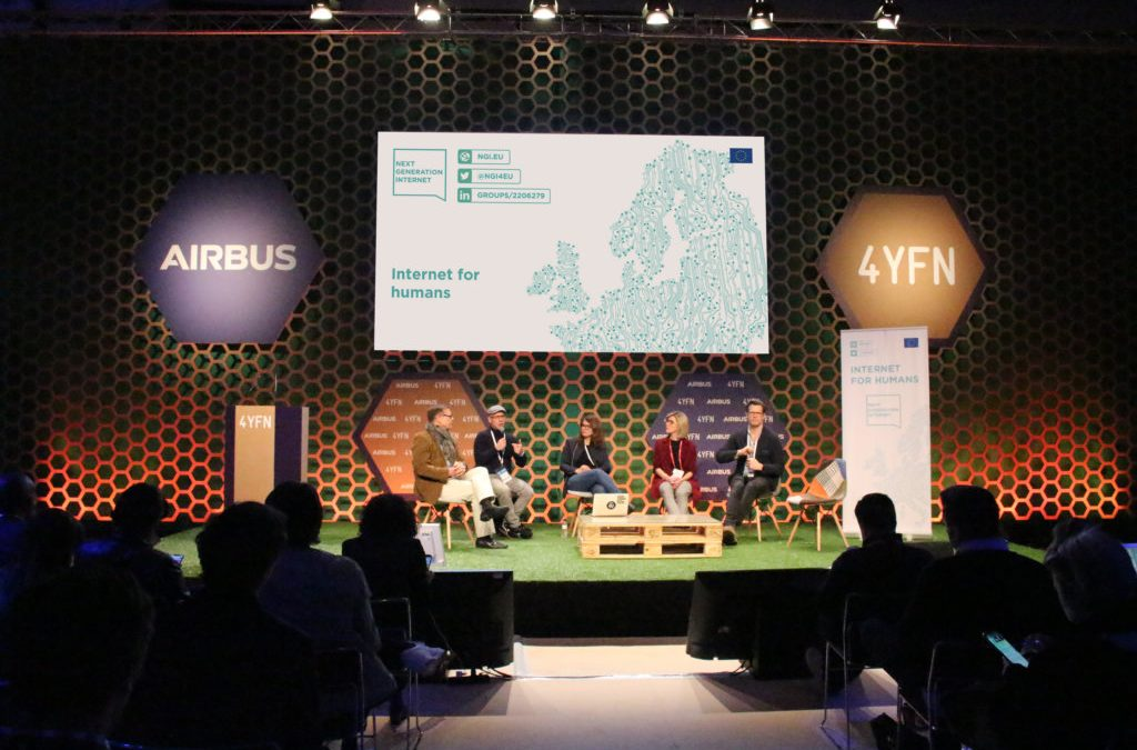 Value, explore, include, communicate: four considerations from the Next Generation Internet initiative mission at 4YFN