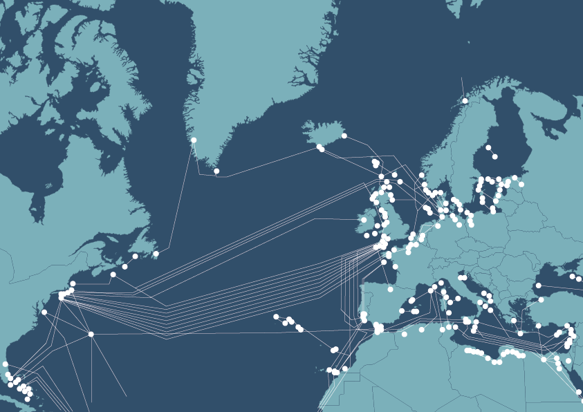 Internet undersea cables
